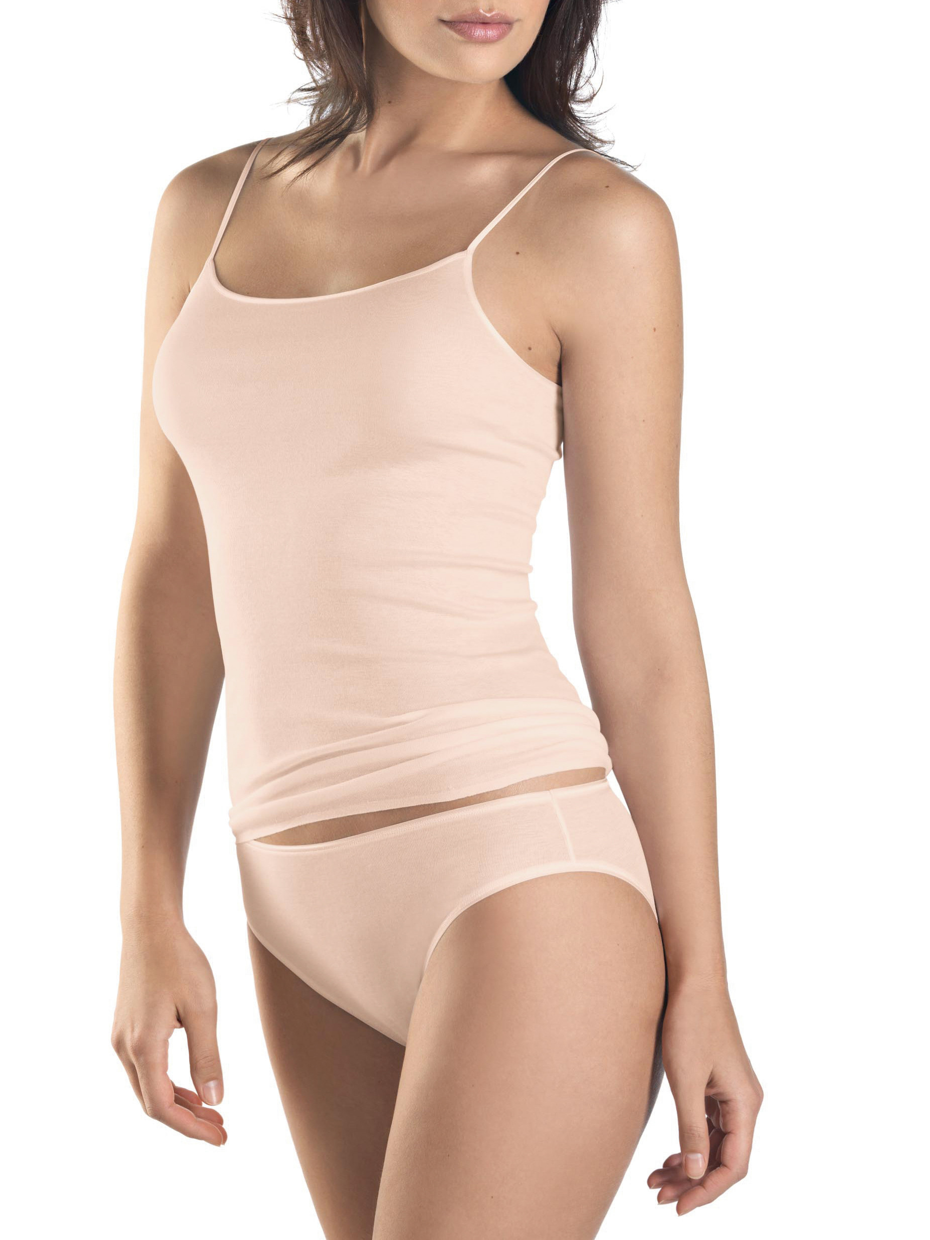 SPAGHETTI-TOP COTTON SEAMLESS